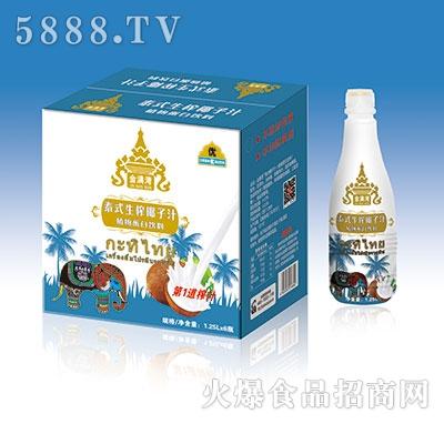 金满湾泰式生榨椰子汁植物蛋白饮料1.25L