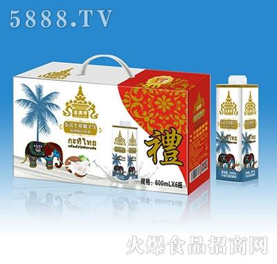 金满湾泰式生榨椰子汁植物蛋白饮料600mlx6瓶
