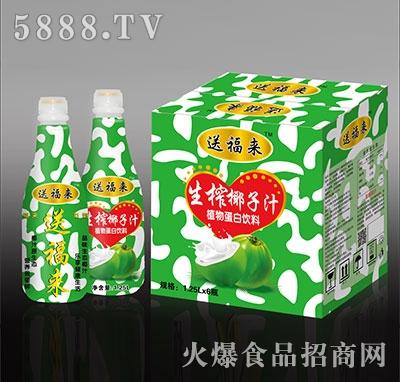 送福来生榨椰子汁植物蛋白饮料1.25x6瓶