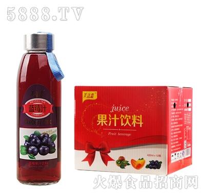 美汁恋420ml蓝莓汁x12瓶