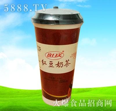 玫日美红豆奶茶