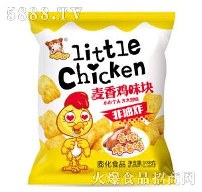 华妞麦香鸡味块烤鸡味108g