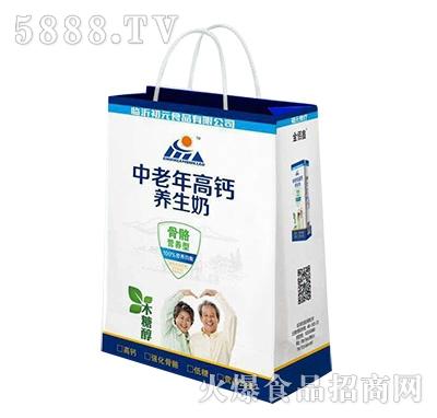 初元食疗中老年高钙养生奶手提袋