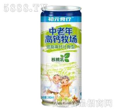 初元食疗中老年高钙牧场核桃乳245ml