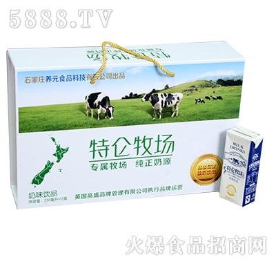 特仑牧场奶味饮品250mlX12盒