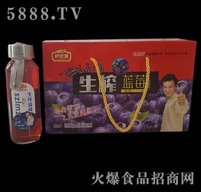 伊思源300mLx10瓶生榨蓝莓汁