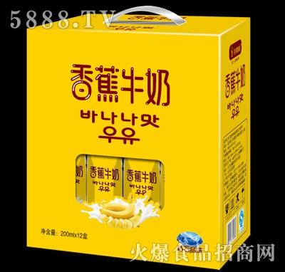 亲情1家香蕉牛奶200mlx12盒