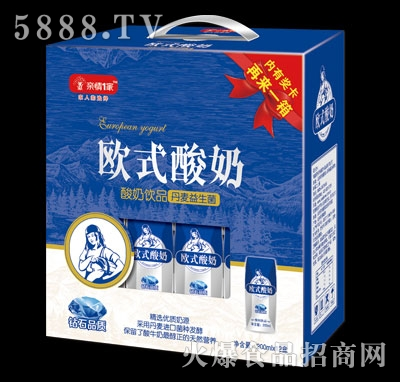 亲情1家欧式酸奶200mlx12盒