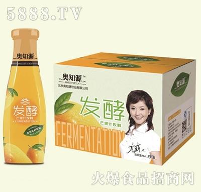 奥知源发酵芒果果汁果肉饮料310mlx12瓶