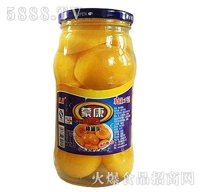 蒙康1kg桃罐头