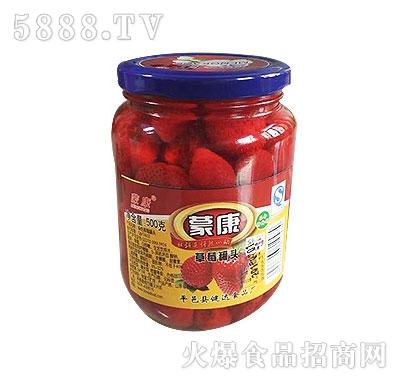 蒙康500g草莓罐头