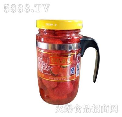 蒙康608g草莓罐头