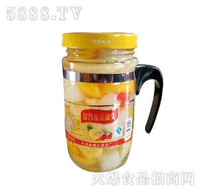 蒙康608g混合水果罐头