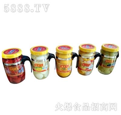 蒙康608g水果罐头