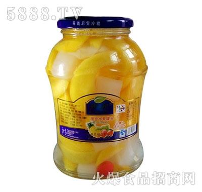 蒙康768g混合水果罐头