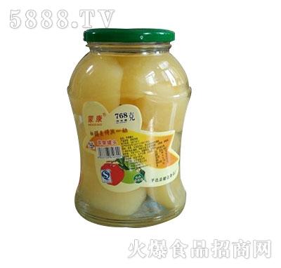 蒙康768g苹果罐头