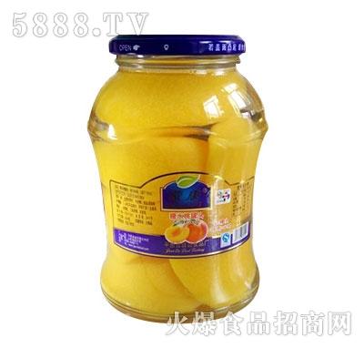 蒙康768g糖水桃罐头
