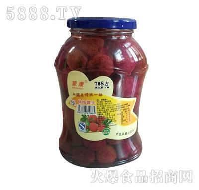 蒙康768g杨梅水果罐头