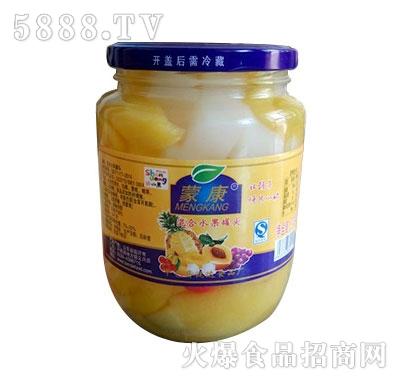 蒙康770g混合水果罐头