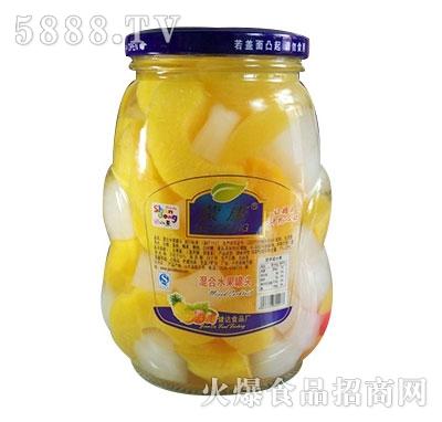 蒙康870g混合水果罐头