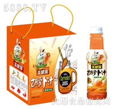 美健源胡萝卜汁500mlx6瓶