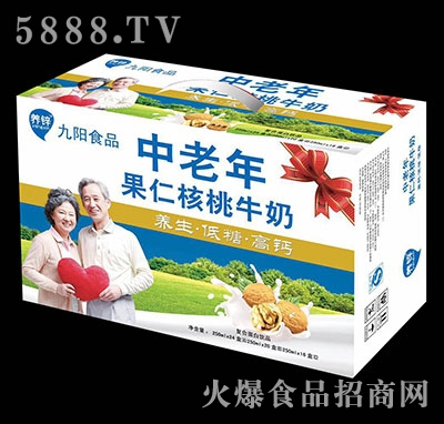 中老年果仁核桃牛奶250mlx24