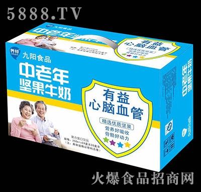 中老年坚果牛奶250mlx24盒