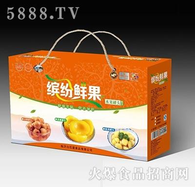 白石屋缤纷鲜果水果罐头礼盒