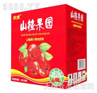 欢虎山楂果园山楂果汁果肉饮料1.25Lx6