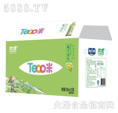 欢虎Tea咪柚子绿茶500mlx15