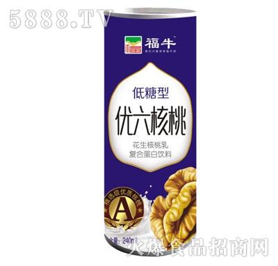 福牛低糖型优六核桃240ml