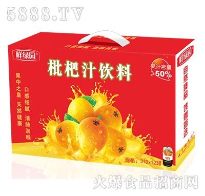 鲜果园枇杷汁饮料310mlx12罐