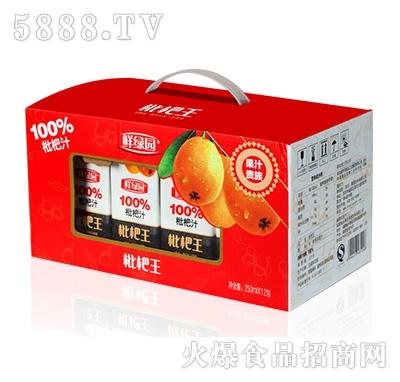 鲜果园枇杷王枇杷汁饮料250x12盒