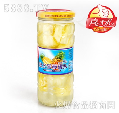 喜天果冰糖菠萝罐头360g