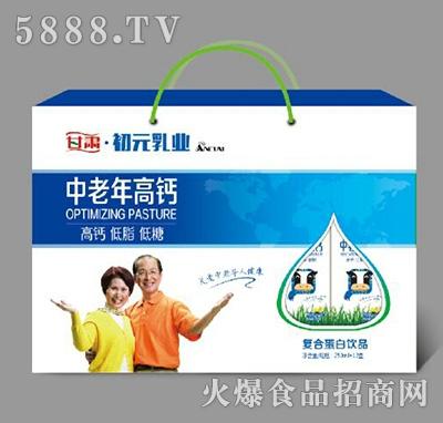 1x12盒初元乳业中老年高钙复合蛋白饮料