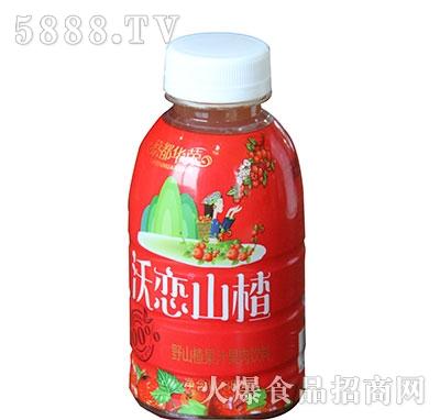 蔡都华荣沃恋山楂野山楂果汁果肉饮料380ml