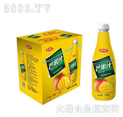 新的浓缩果汁芒果汁1.25Lx6瓶