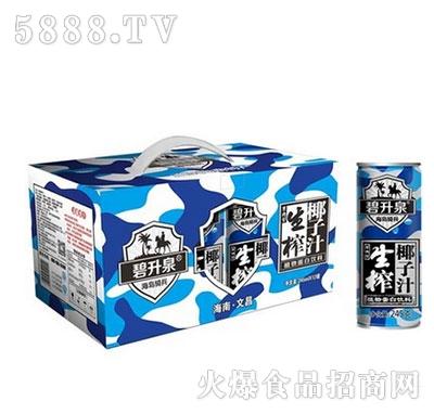 碧升泉生榨椰子汁椰汁245mlx12罐