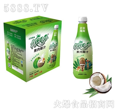 椰子泡泡生榨椰子汁1.25Lx6瓶