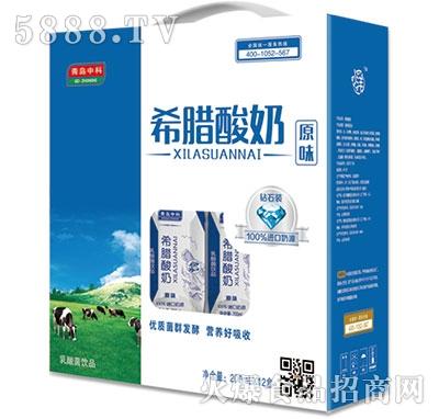 青岛中科希腊酸奶原味200mlx12盒