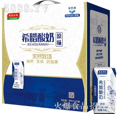 青岛中科原味希腊酸奶200mlx12盒