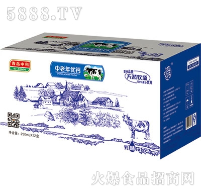 青岛中科中老年优钙250mlx12盒
