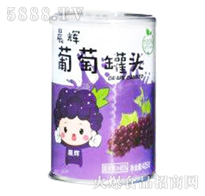 晨辉葡萄罐头850g