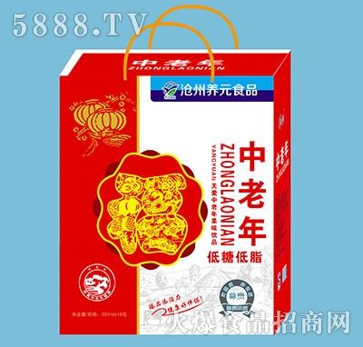 养元食品中老年果味饮品200mlx16包
