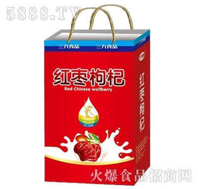 三九穆朗红枣枸杞乳味饮品手提袋