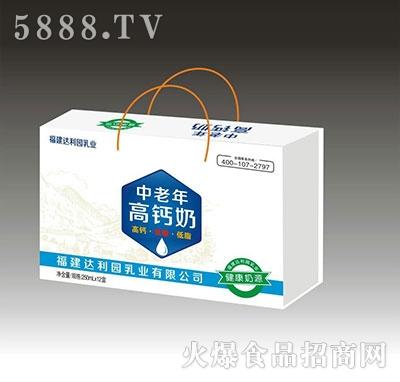 达利园250mlx12盒中老年高钙奶