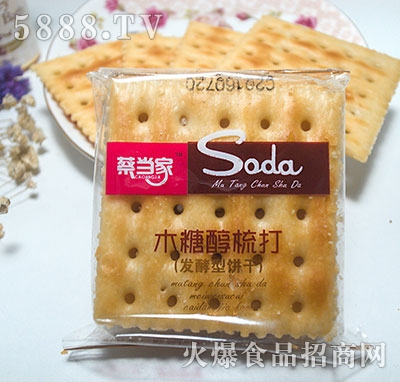 蔡当家木糖醇梳打发酵型饼干袋
