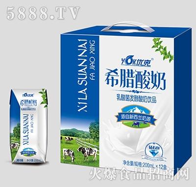 优克希腊酸奶钻石包200mlx12盒