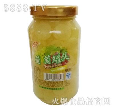 晶海糖水葡萄罐头850克