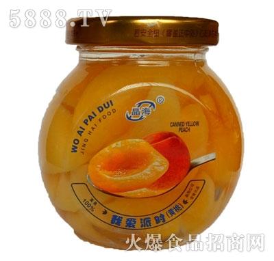 晶海糖水黄桃罐头255克